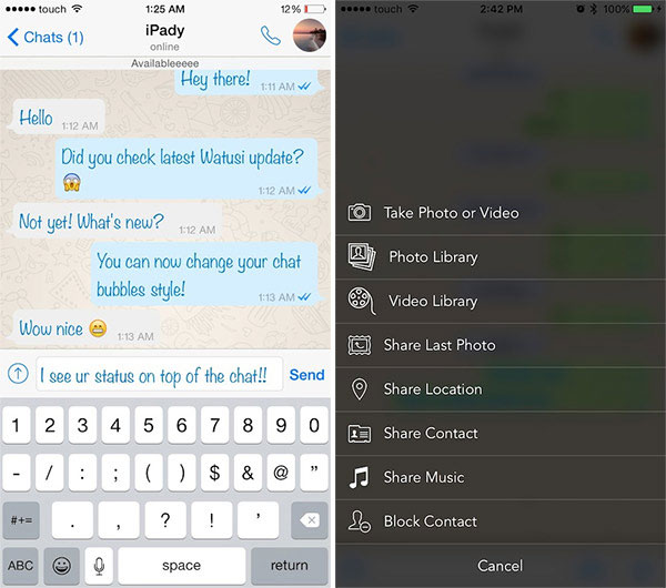 How to install the tweak Watusi for WhatsApp on iPhone