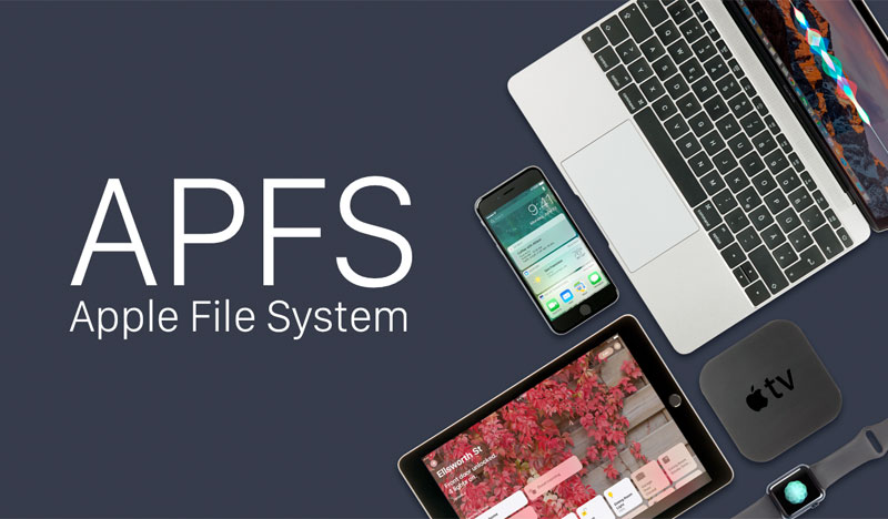 The file system allows APFS to name files in English only