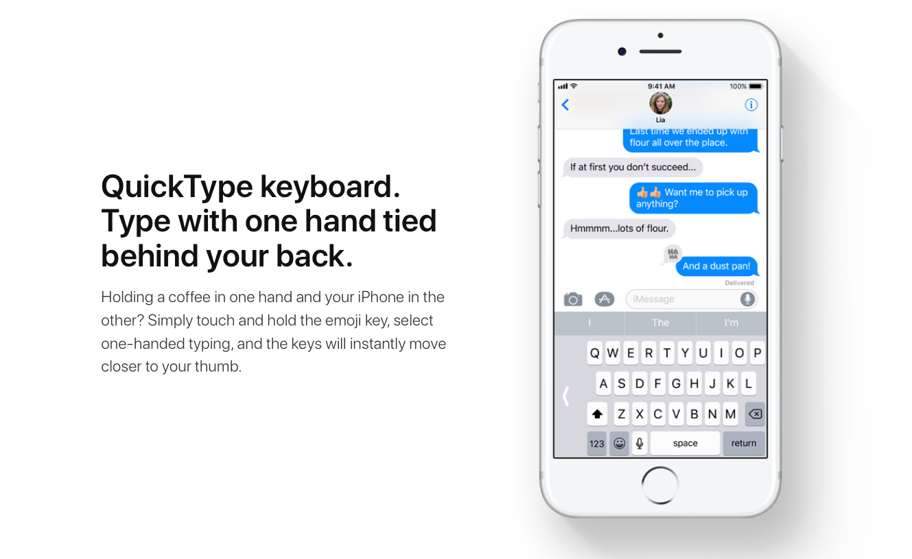 Keyboard in iOS 11: from A to z