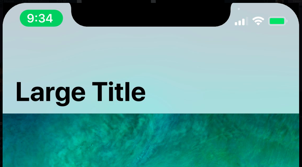 How it will look in the status bar and keyboard in iPhone X?