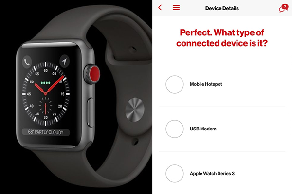 In the application of American operator appeared mention of the Apple Watch 3