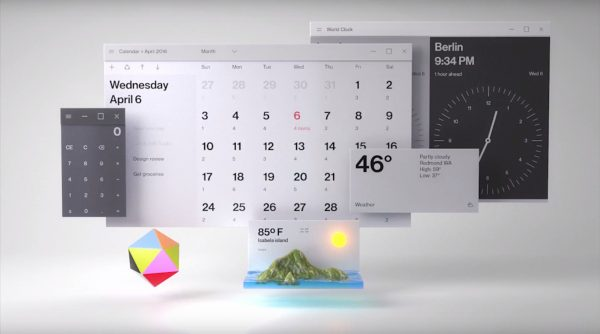 Microsoft revealed the new design of Windows 10