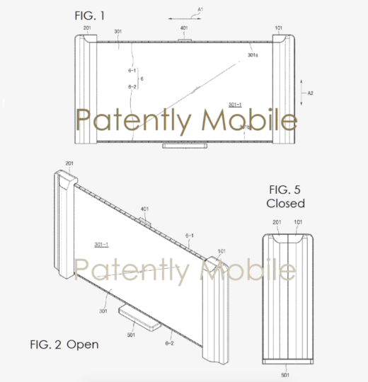 New Samsung patents: handlebar with integrated display, smart wallet and Curling TV