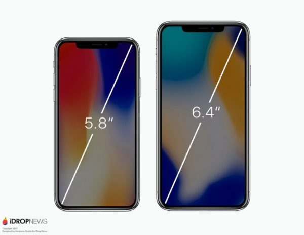The new concept iPhone X Plus with 6.4-inch display