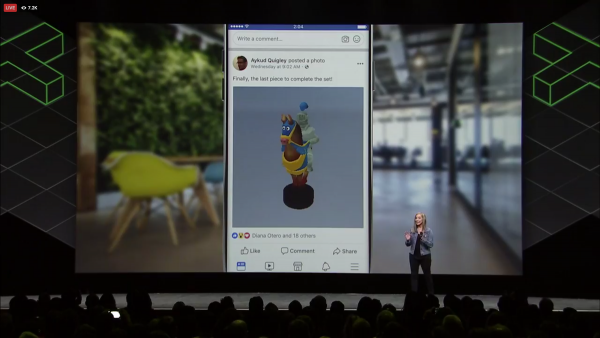 Facebook launches 3D messages with support for virtual reality