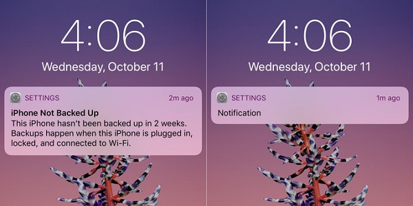iPhone X will show the text of the notification only to the owner