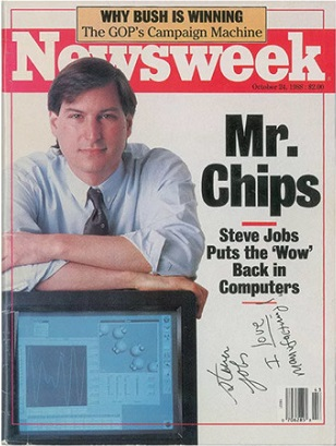 The magazine with the autograph of Steve jobs was auctioned off for 50 thousand dollars
