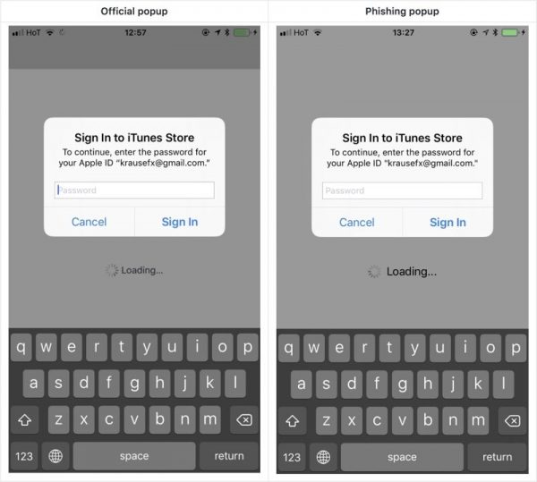New phishing attack allows to steal Apple ID and password