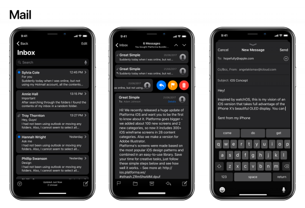 The designer has introduced the concept of dark themes for iPhone iOS 11 X