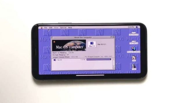 On iPhone X launched Mac OS 8, Warcraft II, Sim City 2000