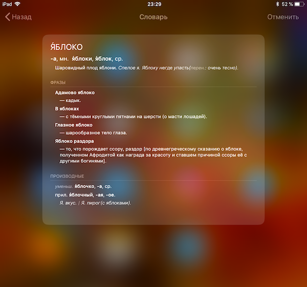 How to use built-in iPhone and iPad dictionary?