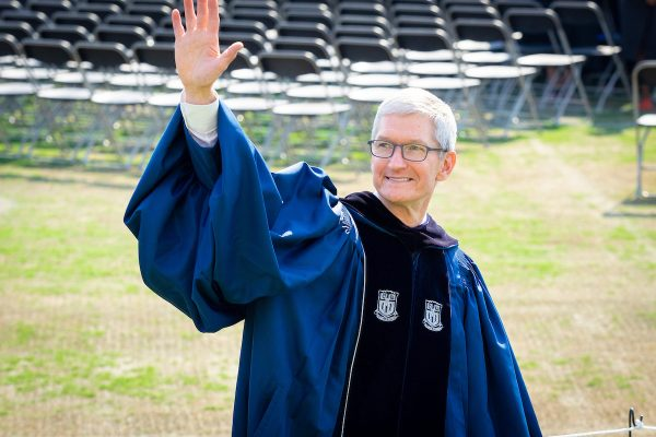 Tim cook spoke to the graduates of Duke University