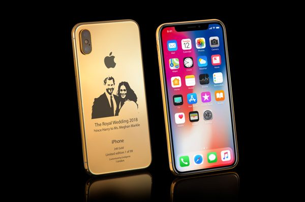 In honor of the Royal wedding issued a commemorative iPhone