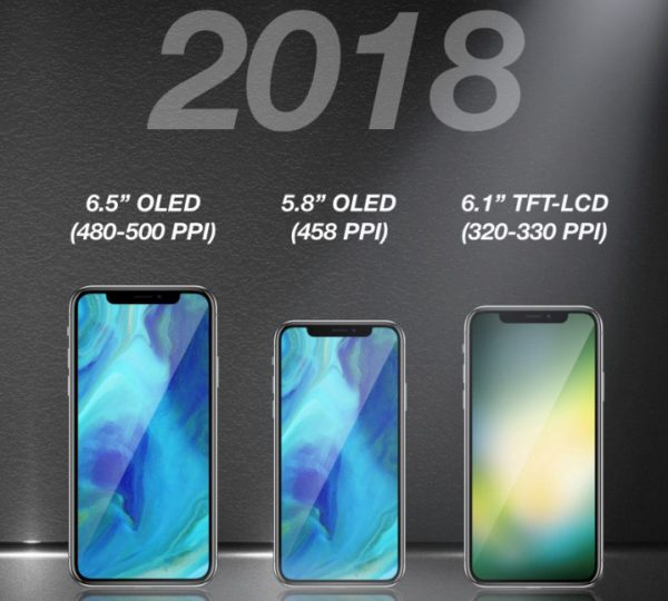 iPhone X, which is due out in the fall of 2018, already lit in the photo