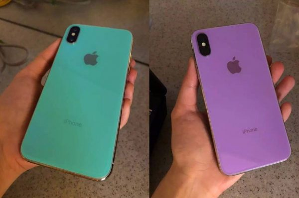 The network got the iPhone X in purple and turquoise colors
