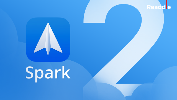 Spark mail client for iOS and macOS received command mode