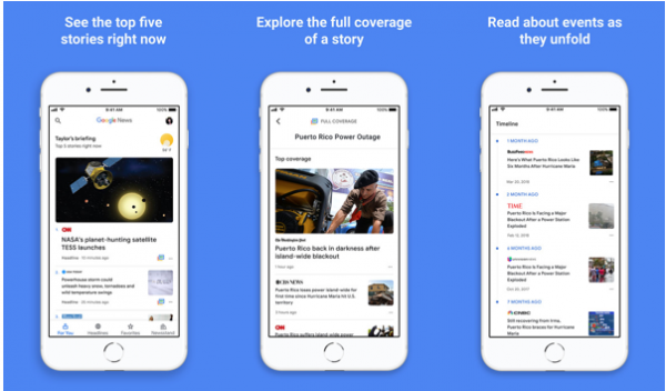 Enhanced artificial intelligence Google News now available for iPhone and iPad