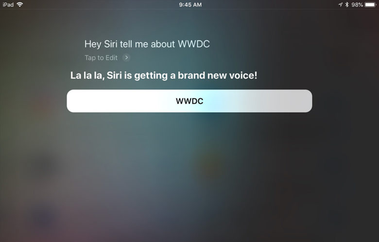 Siri spoke about the changing voice and the new HomePod