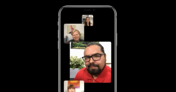 As working group FaceTime calls in iOS 12