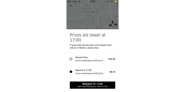 Uber new rule: the longer you wait – the less you pay