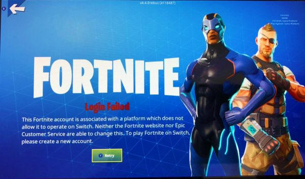 Sony does not play Fortnite on Nintendo Switch