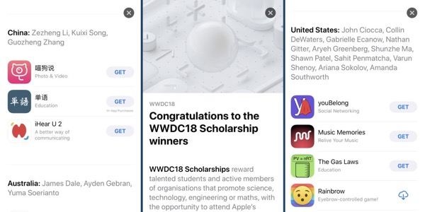 Apple paid tribute to young developers in the App Store