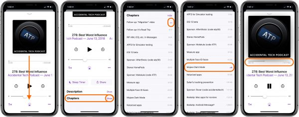 """How to use the chapters in the app """"Podcasts"""" on your iOS 12"""