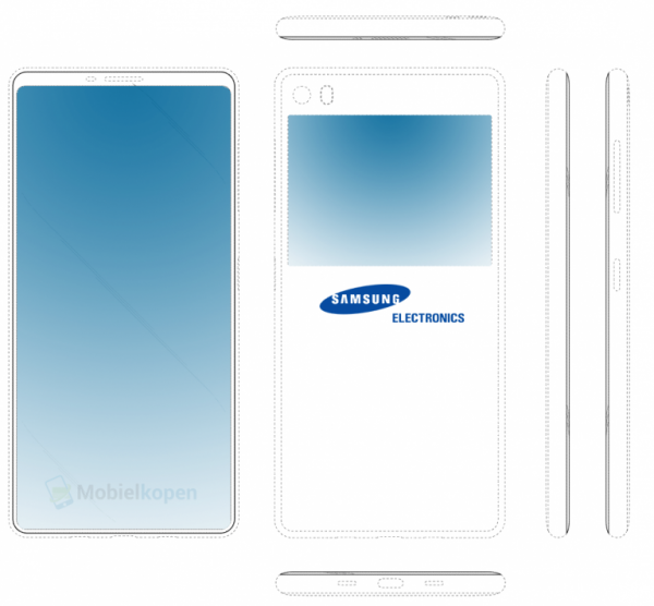 Samsung has patented a smartphone with two screens
