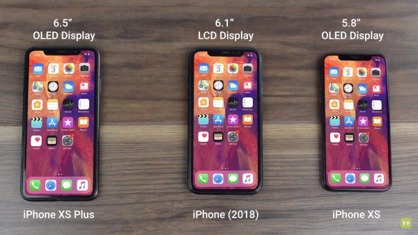 All iPhone 2018 showed in the video