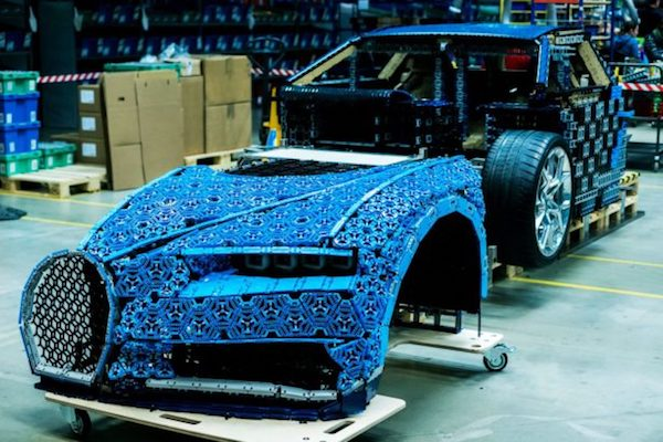Lego used more than a million parts to build the full size copies of the Bugatti