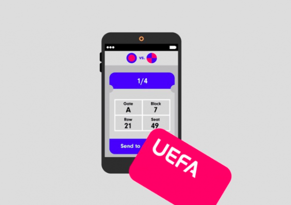 Tickets for UEFA matches can be purchased via the blockchain
