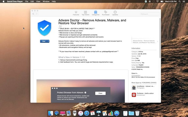Anti-adware No. 1 from the Mac App Store, steals user data