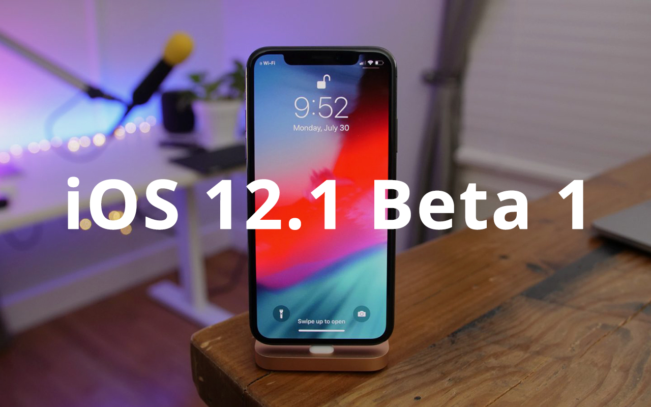 Apple released the first beta of iOS 12.1 for developers
