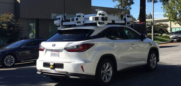 Apple self-driving car had an accident
