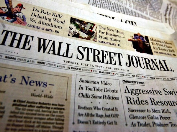 In the Apple News will be subscribed to the New York Times, Wall Street Journal and the Washington Post