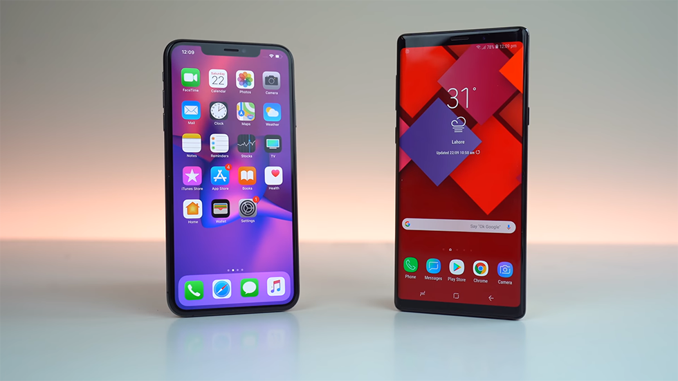 the iPhone XS is lost in the test of speed LTE networks Samsung Galaxy Note 9