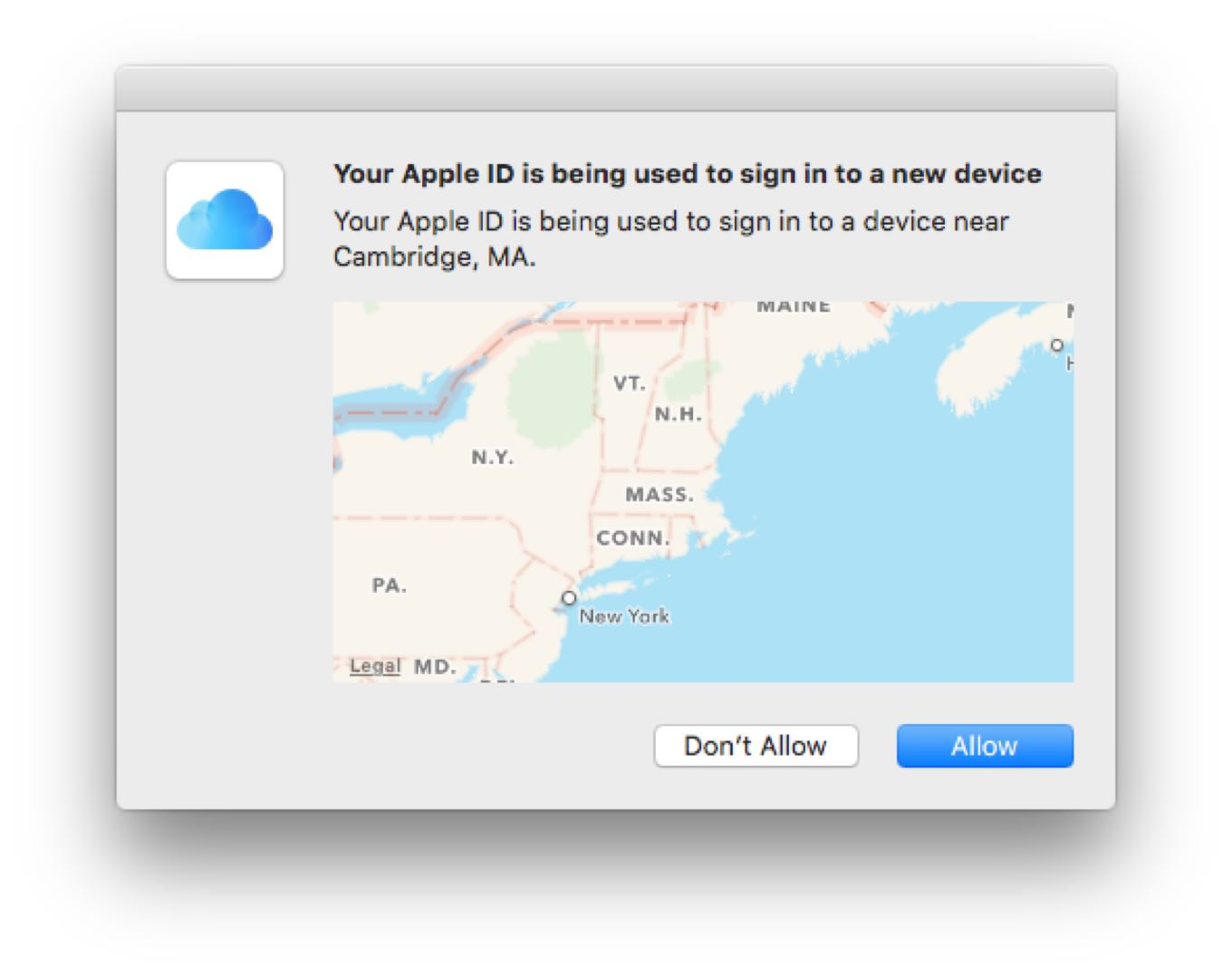 Why two-factor authentication incorrectly displays the location of the device