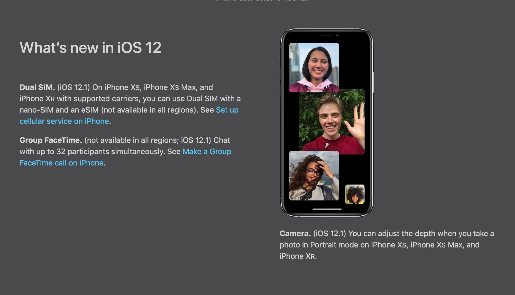 Group chat in FaceTime will not be available for older iPhone and iPad
