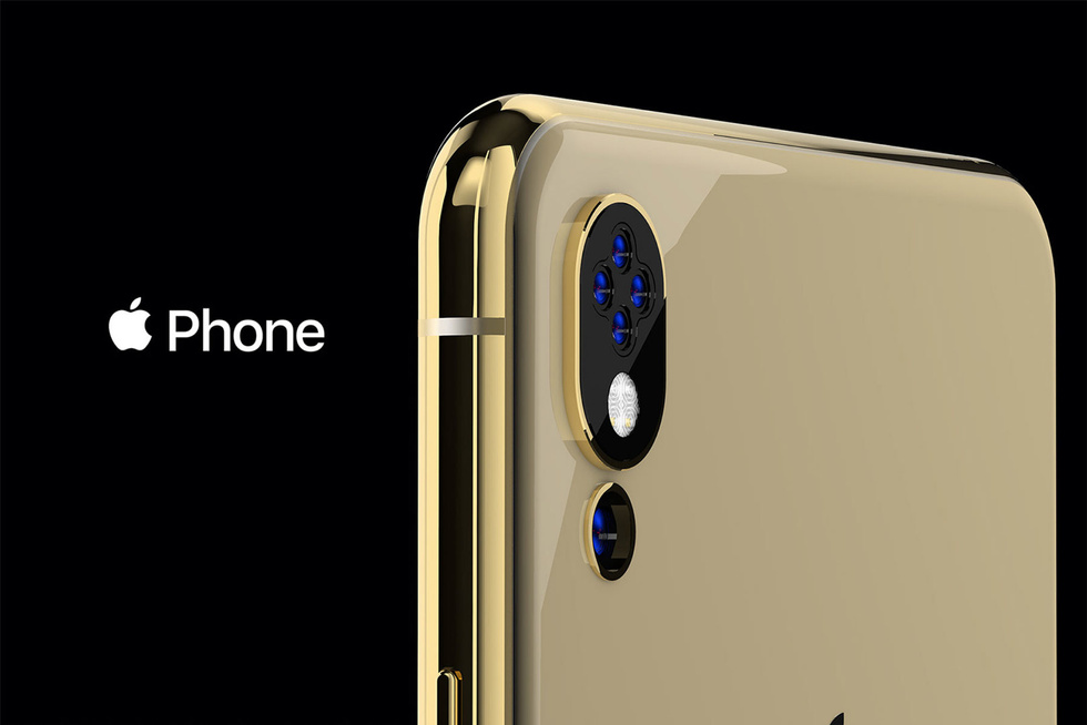 The designer has created a concept for the future iPhone with five cameras and side bangs