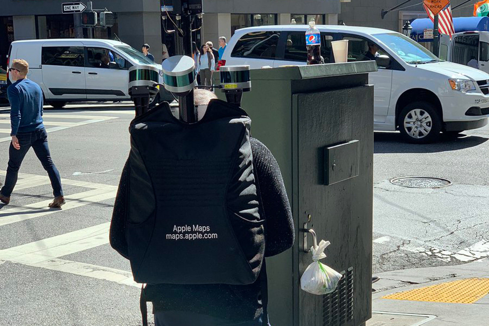 Apple uses special backpacks to collect map data