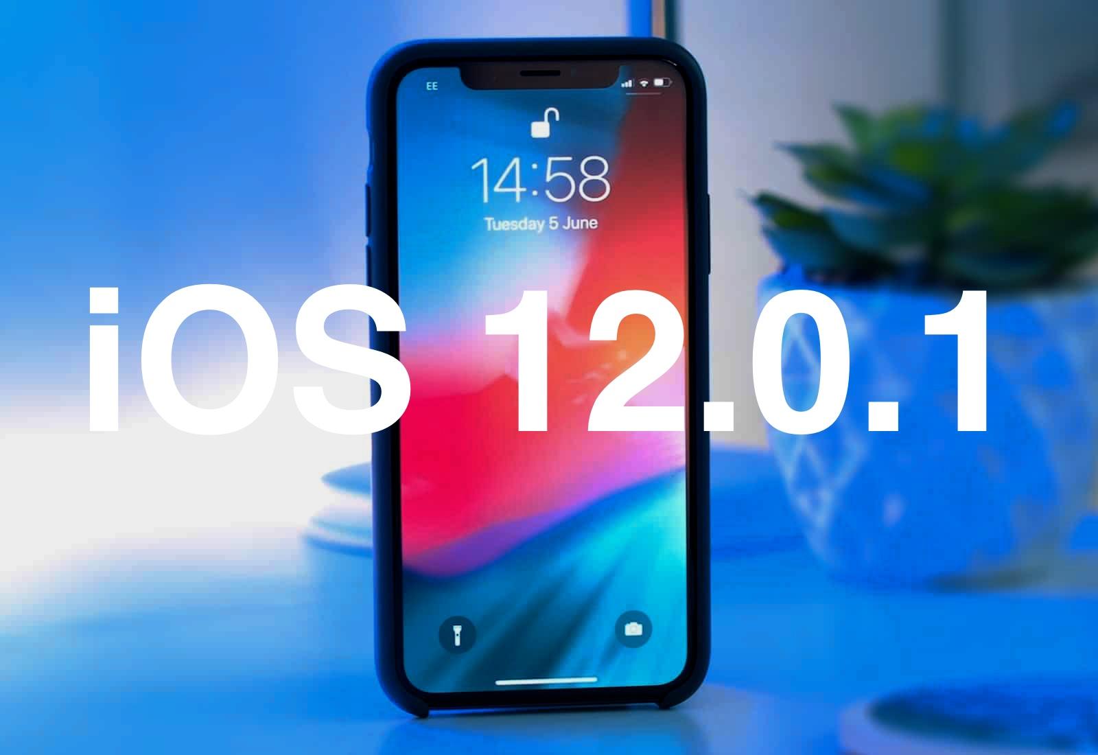 Apple has released iOS 12.0.1