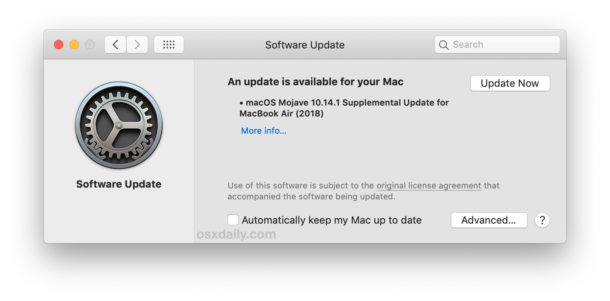 Apple released a special update for MacBook Air macOS 2018