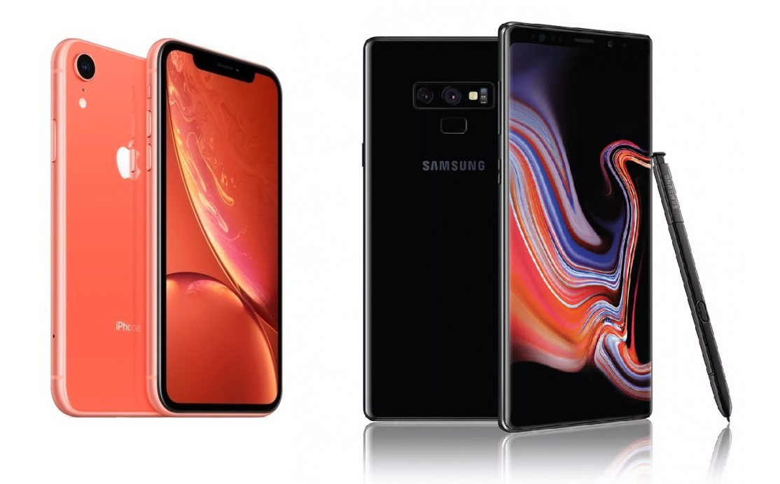 iPhone XR vs Galaxy Note 9: draw in the test for speed