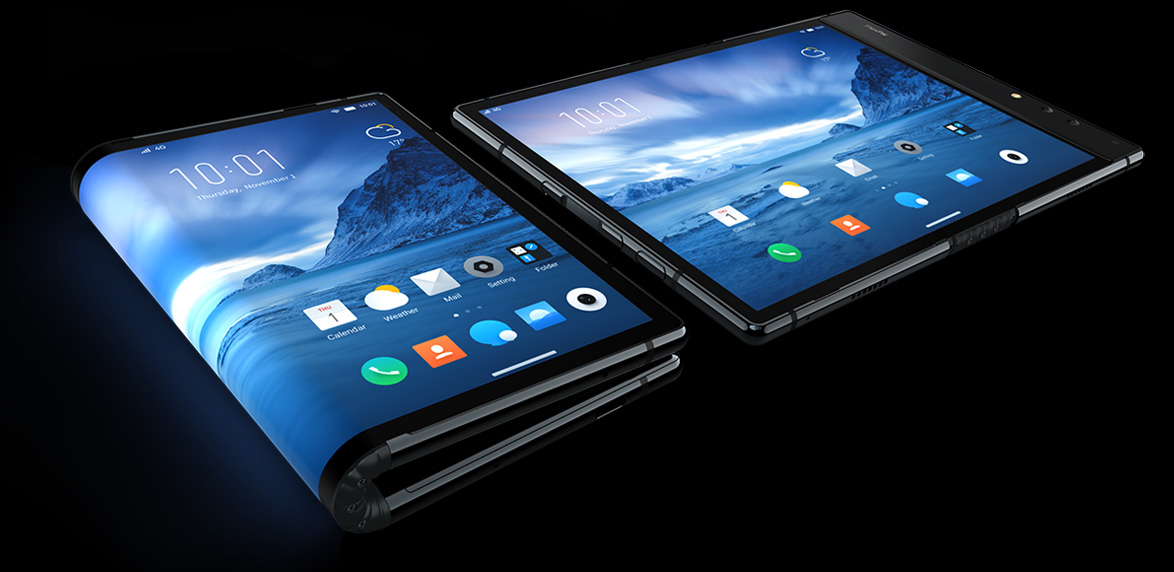 Royole the Chinese company introduced the world's first flexible smartphone
