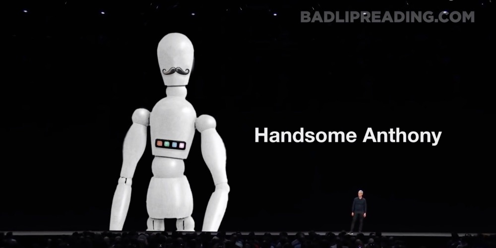 The absurdity of the presentation — YouTube channel Bad Lip Reading redid the Apple event