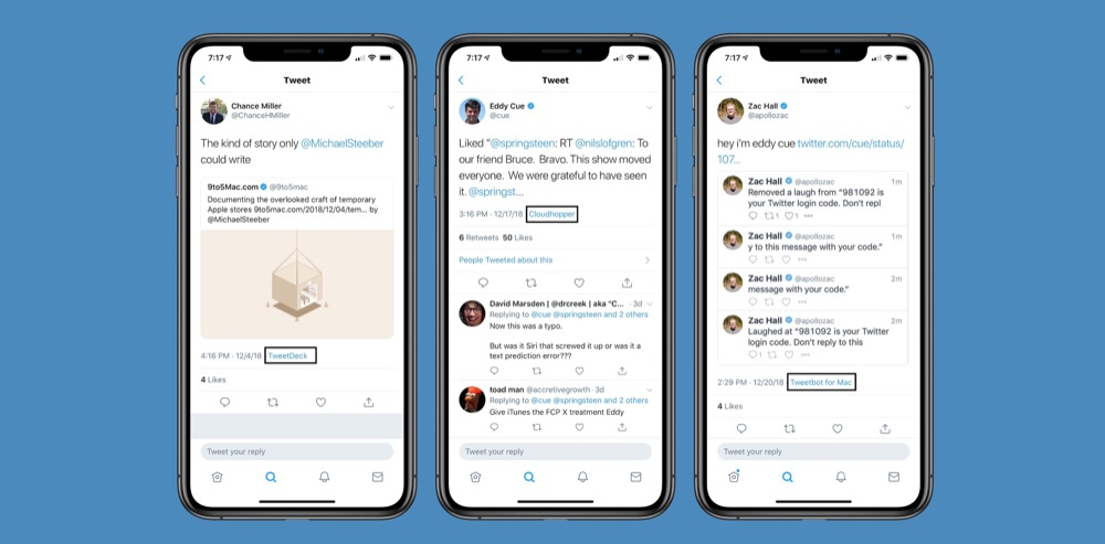 Twitter will once again display the source of tweets in the iOS client