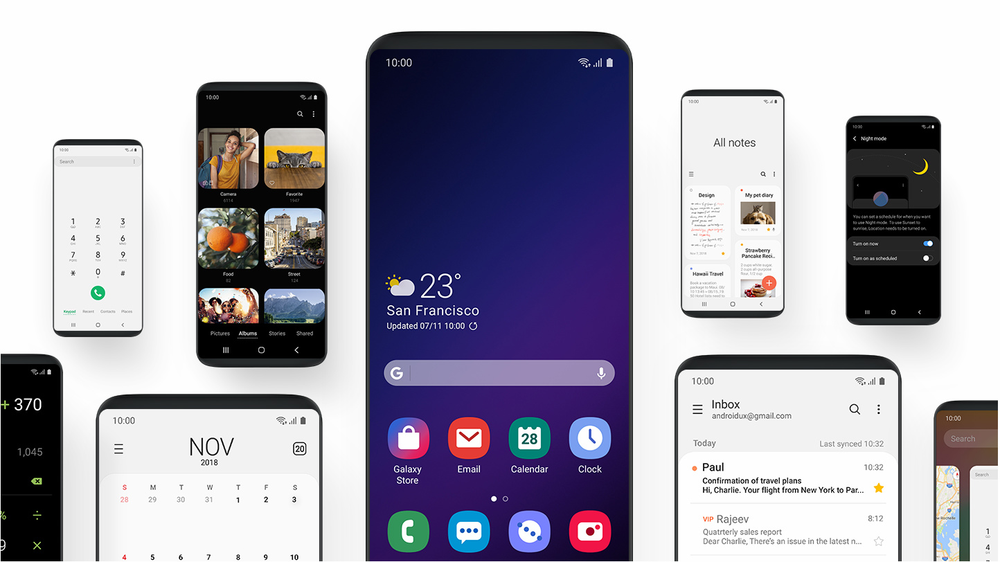 Samsung showed the Galaxy S10 interface
