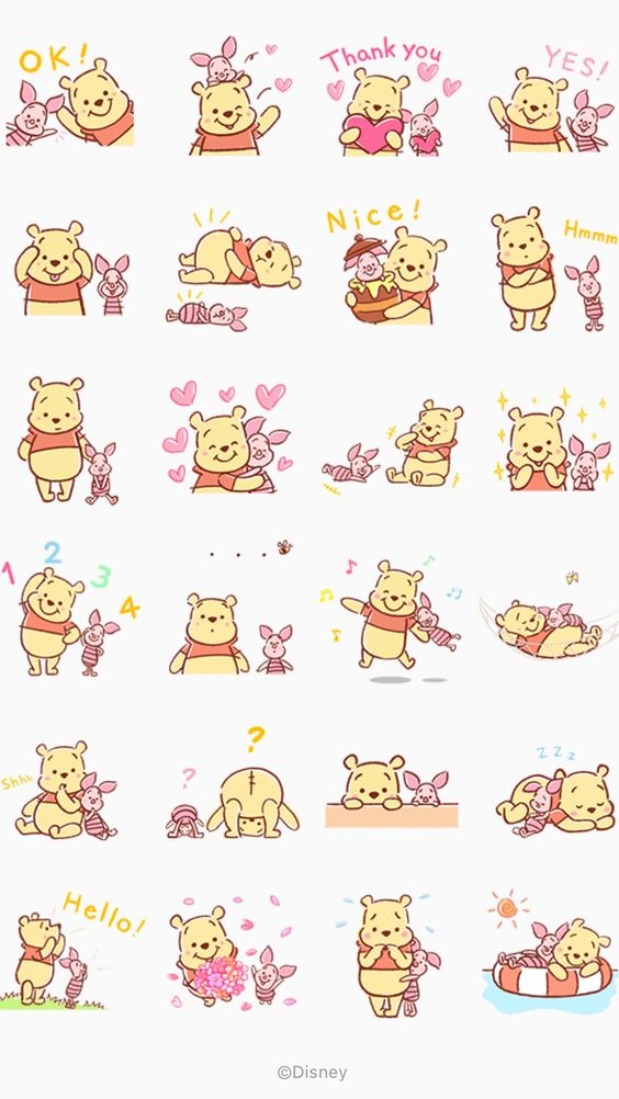 Wallpaper for iPhone in honor of the birthday of Winnie the Pooh