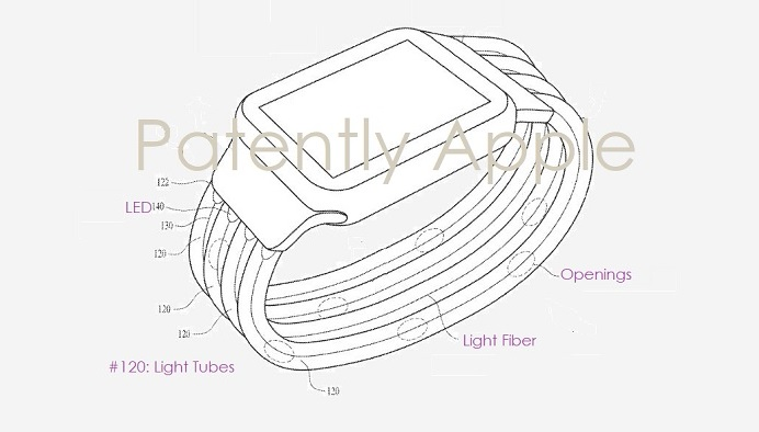 Apple received a patent for the strap-chameleon for Apple Watch